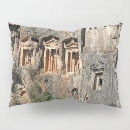 Lycian Tombs at Dalyan Close Up Pillow Sham