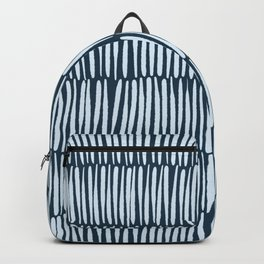 Inspired by Nature | Organic Line Texture Dark Blue Elegant Minimal Simple Backpack
