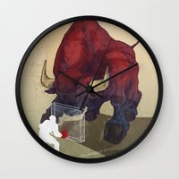 courage Wall Clocks featuring Courage by GlendaTse