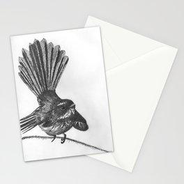 New Zealand fat fuzzy fantail Stationery Cards