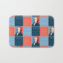 Alexander Hamilton Quotes Bath Mat