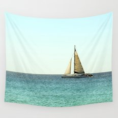 Sail Away with Me - Ocean, Sea, Blue Sky and Summer Sun Wall Tapestry