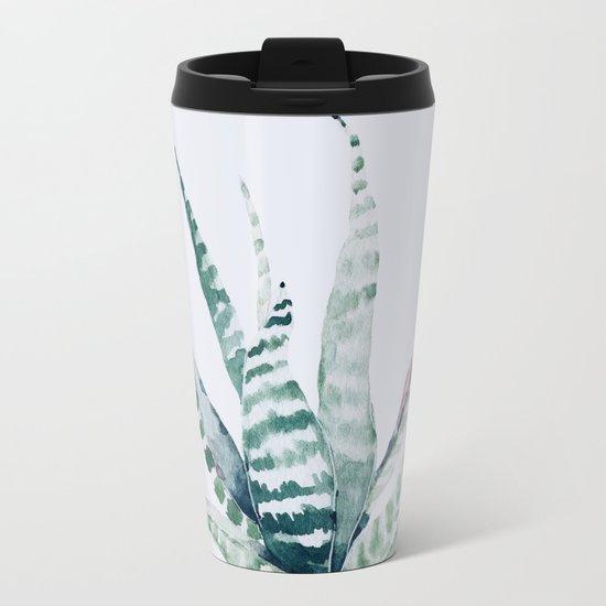 Aloe Vera Metal Travel Mug