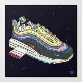Space sneaker 1 Canvas Print
