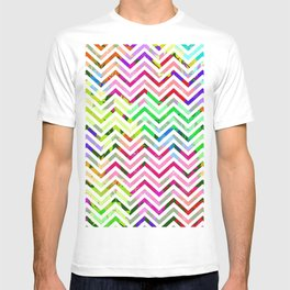 Rainbow Abstract Zig Zag T-shirt