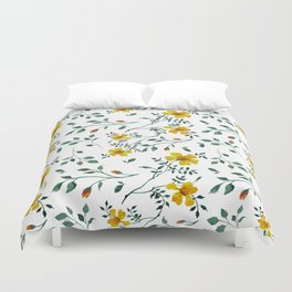 Little yellow flowers Duvet Cover
