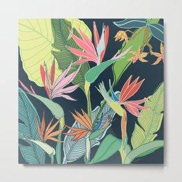 Tropical Bird of Paradise Metal Print