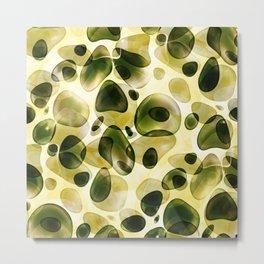 Fresh green blubber bubble Metal Print