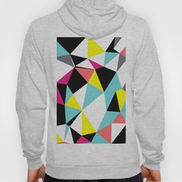 Colorful bright geometrical triangles print Hoody