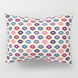 Retro Lips Pattern Pillow Sham