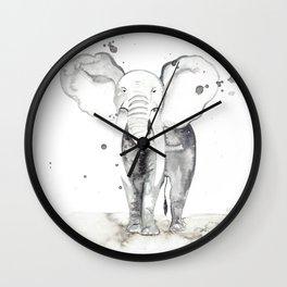 aquarela Elefante Wall Clock