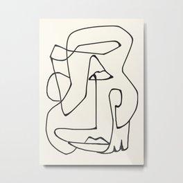 Abstract line art 36 Metal Print