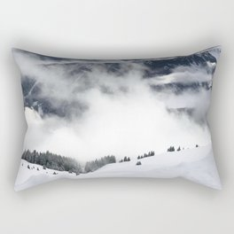 Winter Mountainscape Rectangular Pillow