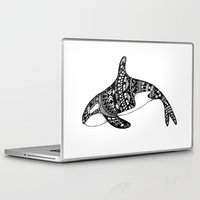 killer whale Laptop & iPad Skins featuring Killer Whale by Emma Barker