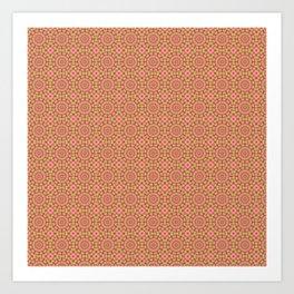 Copper and Pink Mandala Kaleidoscope Art Print