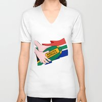 south africa V-neck T-shirts featuring South Africa Rugby by mailboxdisco