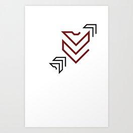 Arrow to your heart Art Print