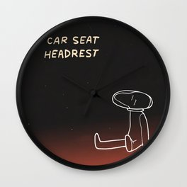 Car Seat Headrest - How To Leave Town Wall Clock