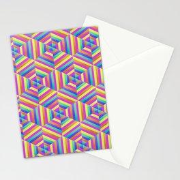 Kaleidoscope Hex Stationery Cards