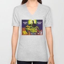 vintage horror movie poster Unisex V-Neck