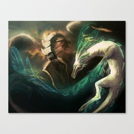Grima vs Naga Canvas Print