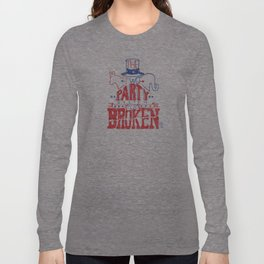 The Two Party System Long Sleeve T-shirt