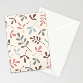 Assorted Leaf Silhouettes Pastel Colors Stationery Cards