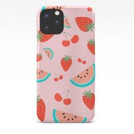 Fruit Salad (Pastel Pink) iPhone Case