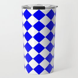 Diamonds - White and Blue Travel Mug