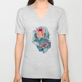 Protea flowers Unisex V-Neck