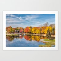 beaver Art Prints featuring Beaver Lake by Photos By Healy