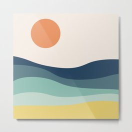 Abstract landscape with sea and sun Metal Print