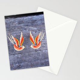 Red Swallows Stationery Cards