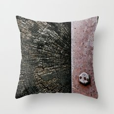 Wooden Energy Throw Pillow