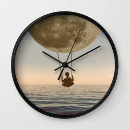 DREAM BIG/MOON BOY SWING Wall Clock