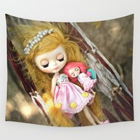 sleeping beauty Wall Tapestries featuring Sleeping Beauty by PruchanunR