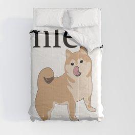 Shiba mlem Comforters