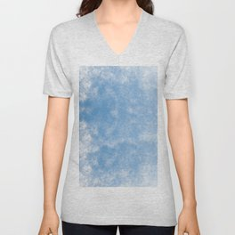 Blue abstract of condensation water flowing down Unisex V-Neck