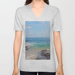 colors of the sea Unisex V-Neck