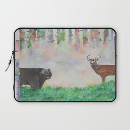The relationship between a bear and a deer Laptop Sleeve