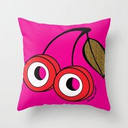Cherry Boom Throw Pillow
