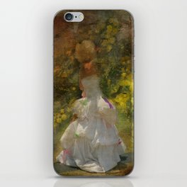 Lady in White Dress iPhone Skin