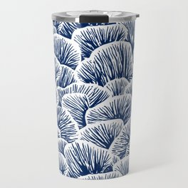 Mushroom Pattern - Dark Blue Travel Mug