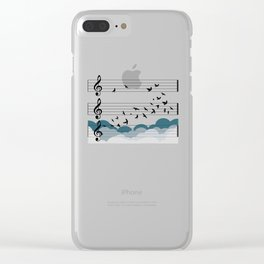 Music Orchestra Conductor birds choir free gift Clear iPhone Case