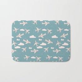 Travel pattern with airplanes Bath Mat