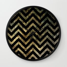 Brass Chevrons Wall Clock