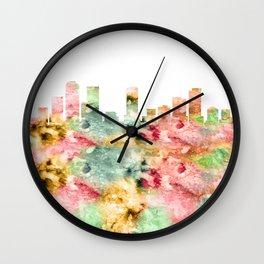 Denver Skyline Colorado Wall Clock
