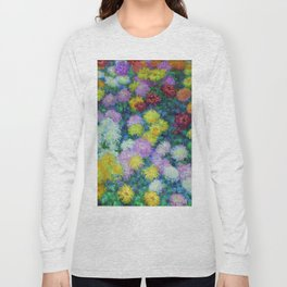 """Claude Monet """"Chrysanthemums"""", 1897 Long Sleeve T-shirt"""