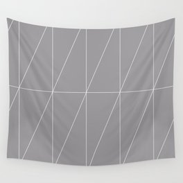 Grey Triangles by Friztin Wall Tapestry