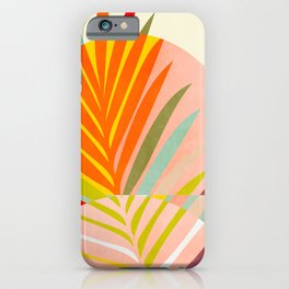 minimal leave tropical spring iPhone Case